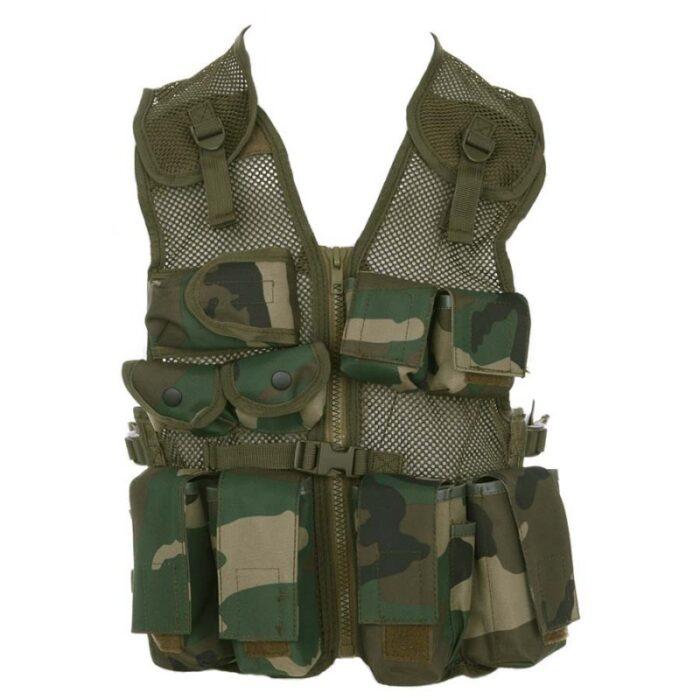 Kids - Tactical Vest Woodland-0