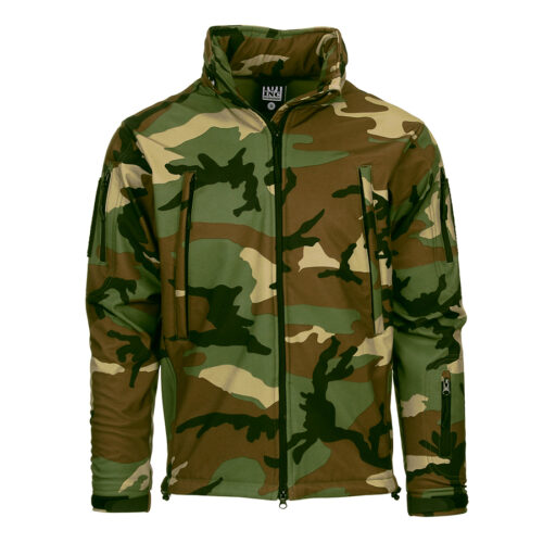 Tactical Softshell Jacket - Woodland-0