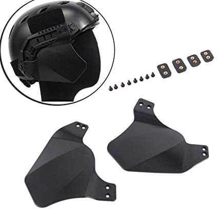 Fast Helmet - Side Rail Cover Black-0