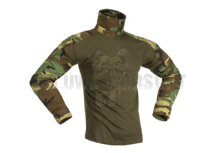Combat Shirt - Woodland-0