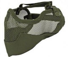 Airsoft beschermings meshmasker + oorbescherming -1295