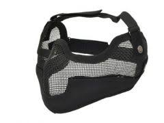 Airsoft beschermings meshmasker + oorbescherming -1296