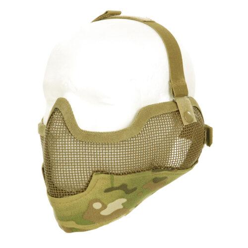 Airsoft beschermings meshmasker + oorbescherming -0