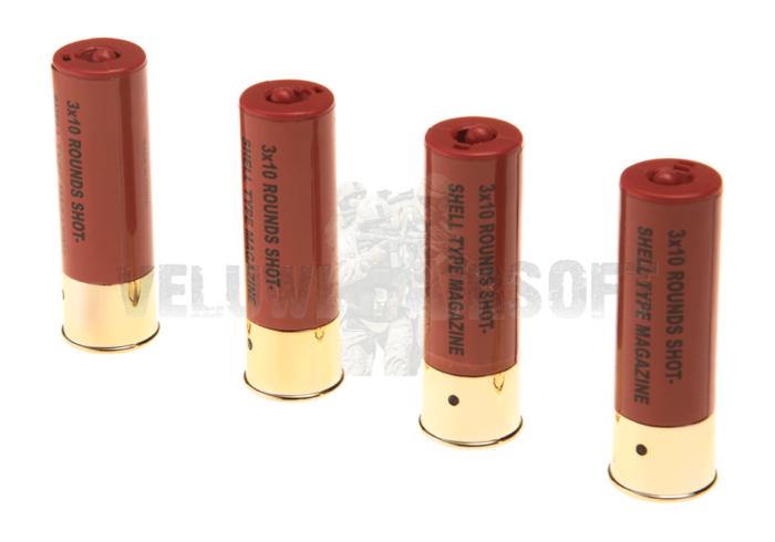 Shells M3 Shotgun 4pcs 30rds (ASG)-0