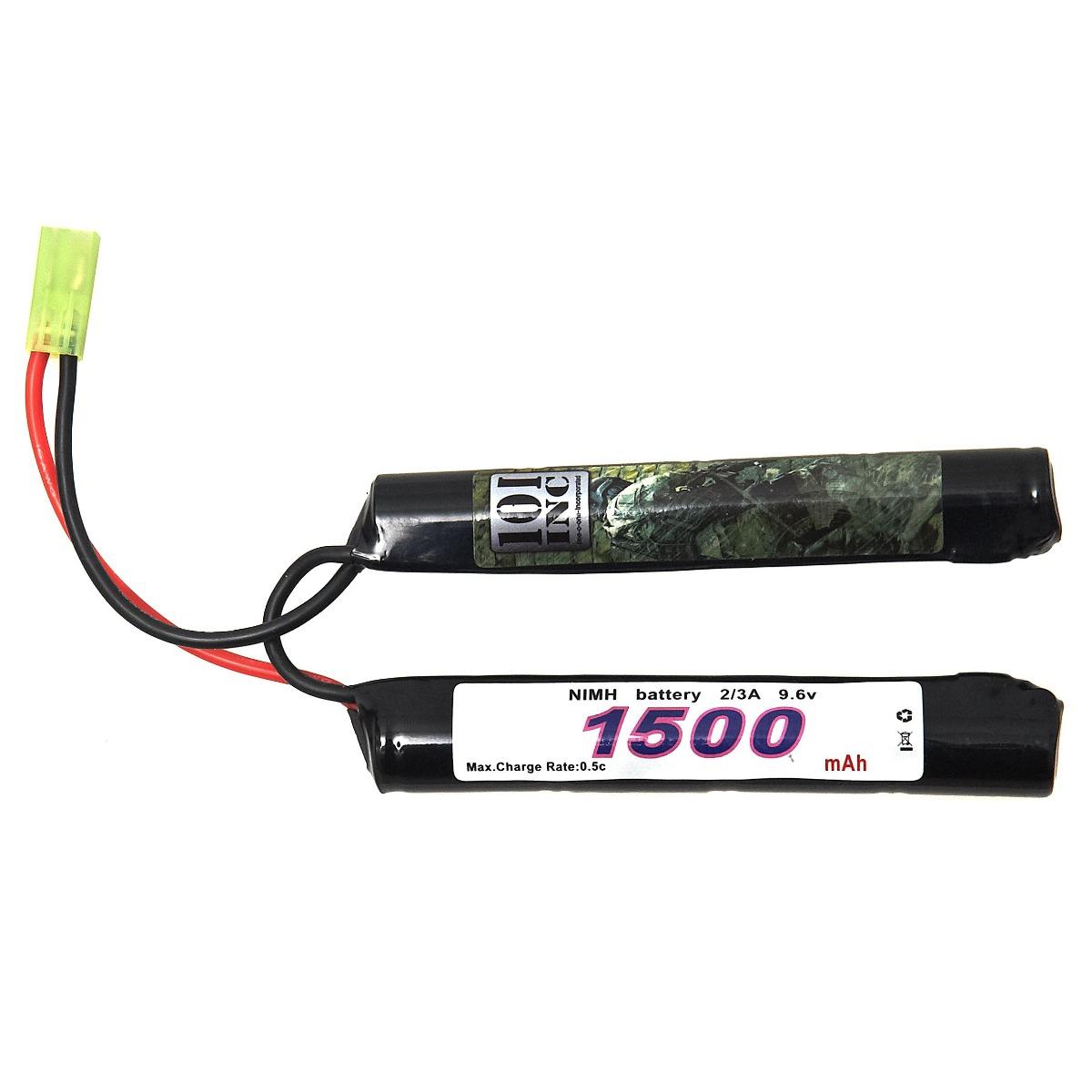 BATTERIJ 101 INC. NIMH 9.6V -1500 MAH BUTTERFLY STICK-0
