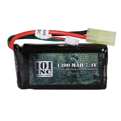 LI-PO BATTERIJ 7.4V -1300 MAH BLOCK-0