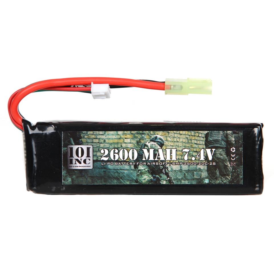 LI-PO BATTERIJ 7.4V -2600 MAH BLOCK-0