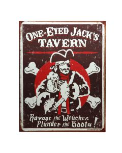 METALEN PLAAT GROOT ONE-EYED JACK'S TAVERN-0