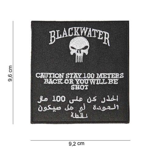 EMBLEEM STOF BLACKWATER 100 MTR ZONDER KLITTEBAND-0