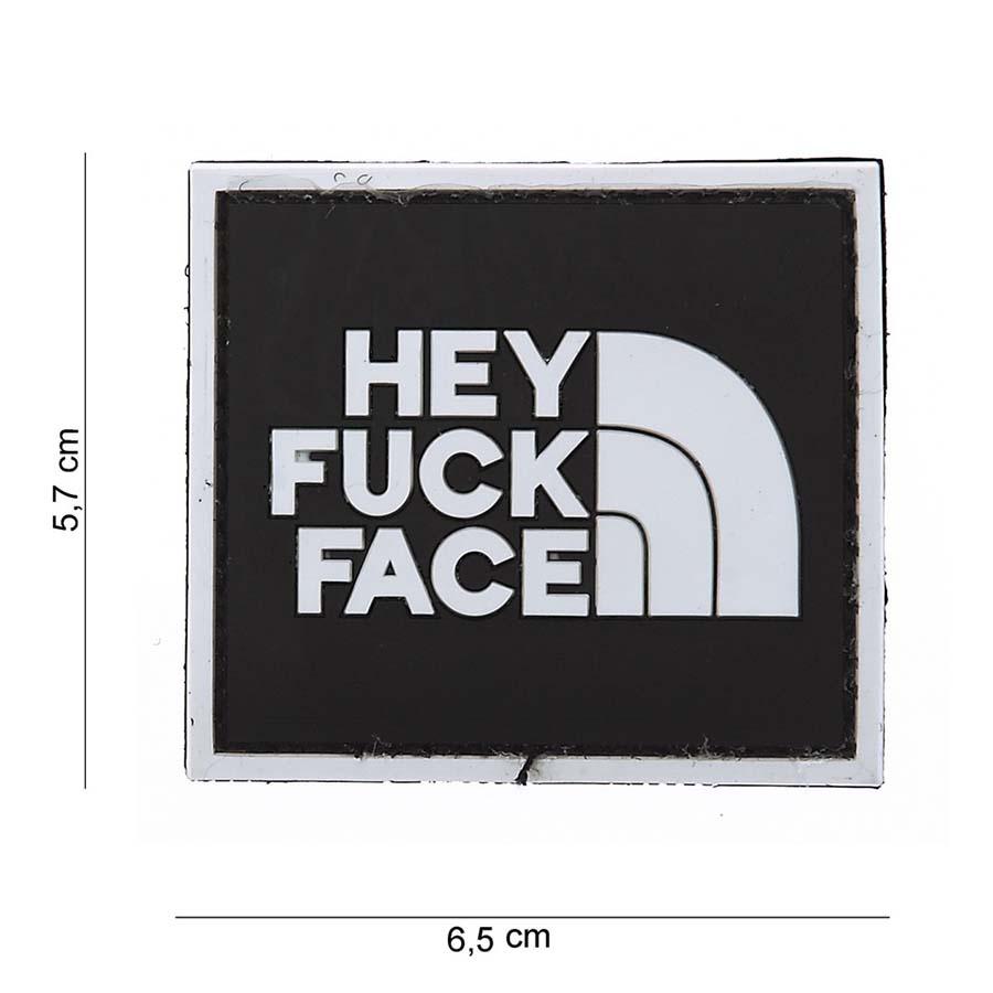 EMBLEEM 3D PVC HEY FUCK FACE-0