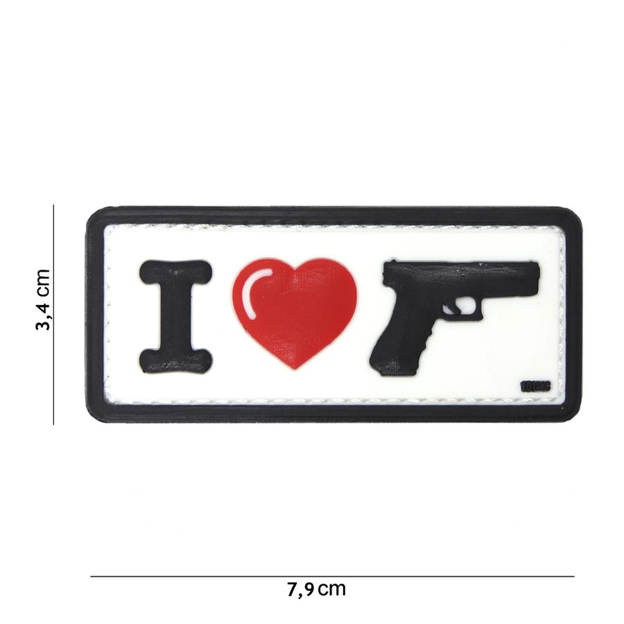 Embleem 3D PVC I Love my sidearm wit-0
