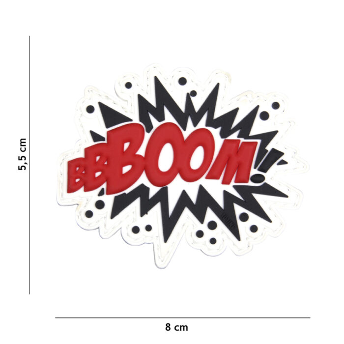 Embleem 3D PVC BOOM! rood-0