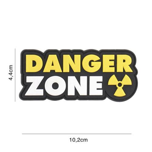 Embleem 3D PVC Danger Zone geel-0