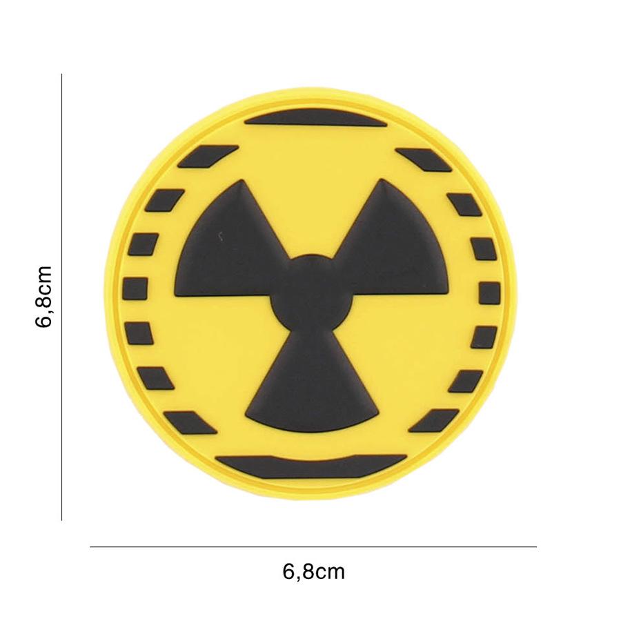 Embleem 3D PVC Nuclear geel-0