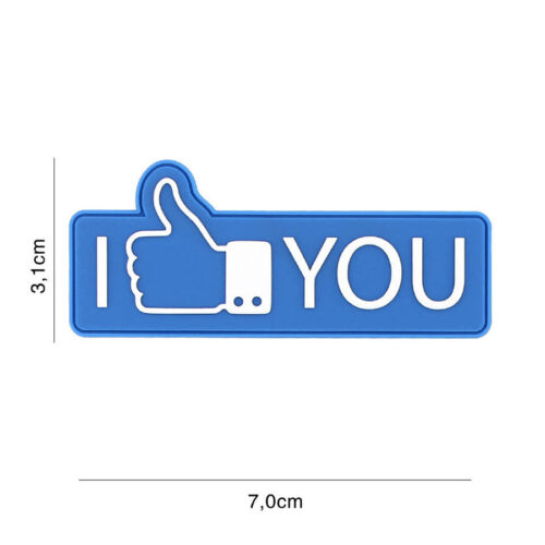 Embleem 3D PVC I like you blauw-0