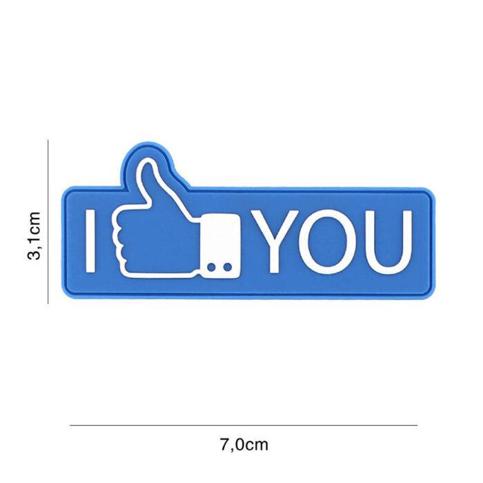 Embleem 3D PVC I like you blauw-0