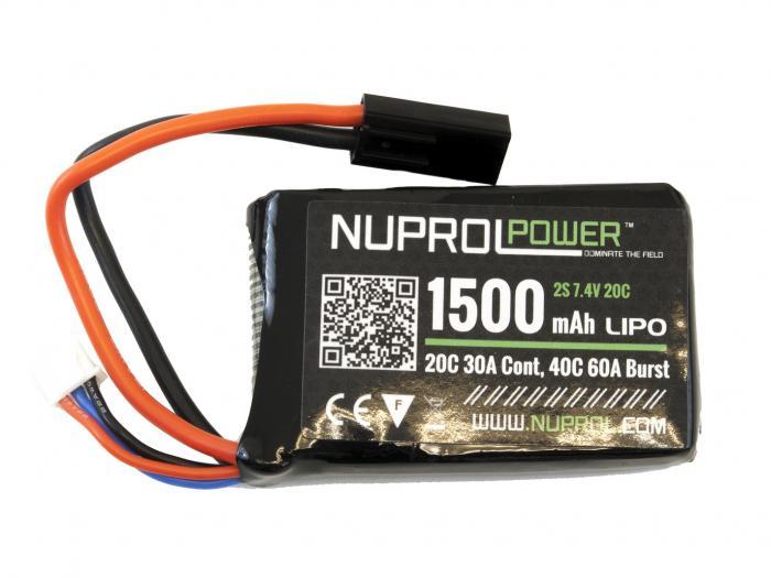 Nuprol Power Lipo - PEQ Micro - 1500mah 7.4V-0