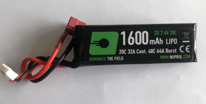 Nuprol Battery - Lipo Stick Deans - 7.4V - 1600mah-0