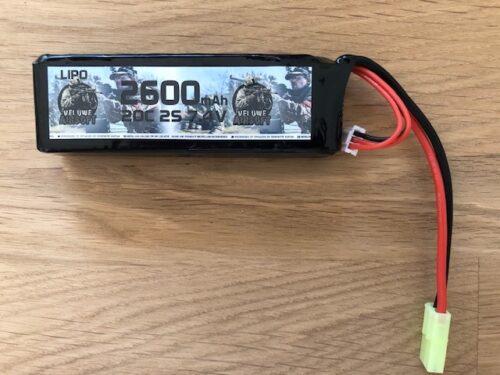 LIPO 7,4V BLOCK - 2600 MAH - VELUWE AIRSOFT-0