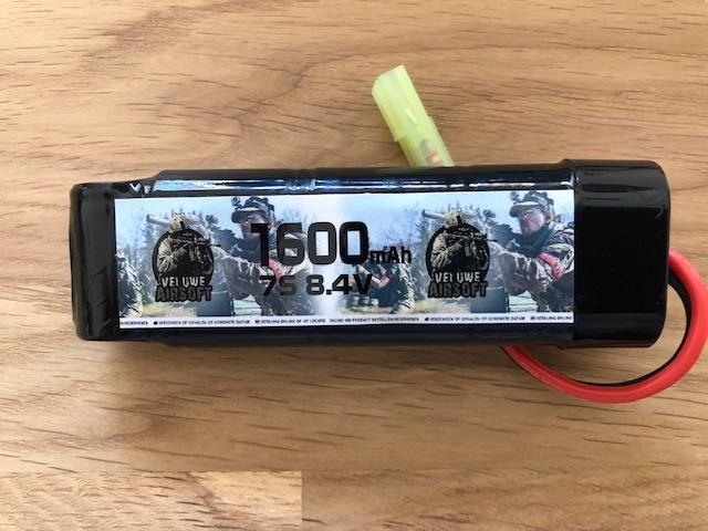 NIMH 8,4V BLOCK - 1600 MAH - VELUWE AIRSOFT-0