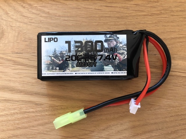 KLEIN - LIPO 7.4 BLOCK - 1300 MAH - VELUWE AIRSOFT-0