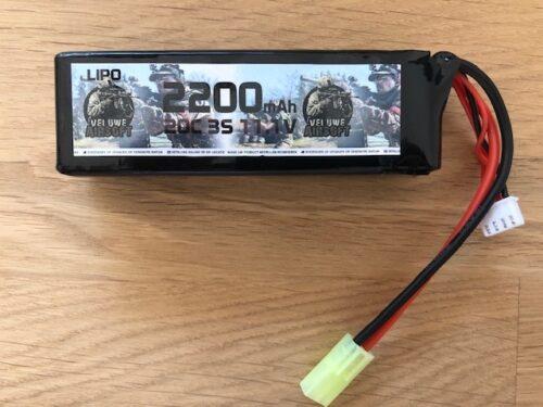 LIPO 11.1 STICK - 2200 MAH - VELUWE AIRSOFT-0