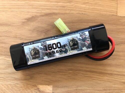 NIMH 9,6V BLOCK - 1600 MAH - VELUWE AIRSOFT-0