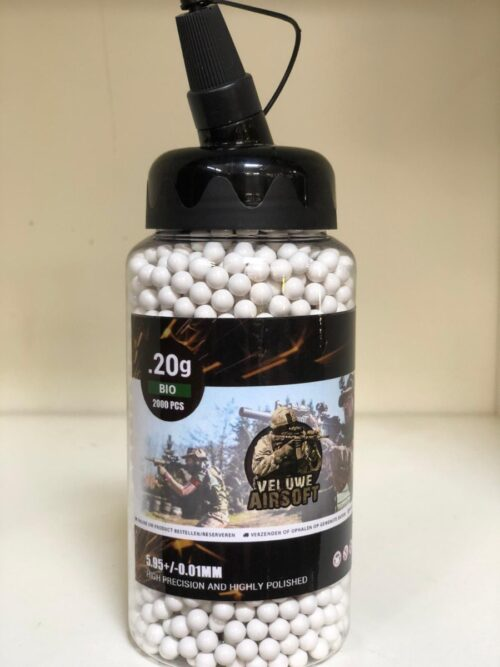 Small Bottle - Veluwe Airsoft - BIO 0.20 BB - 2000pcs -0