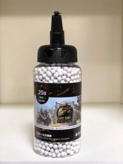 Small Bottle - Veluwe Airsoft - BIO 0.25 BB - 2000pcs -0