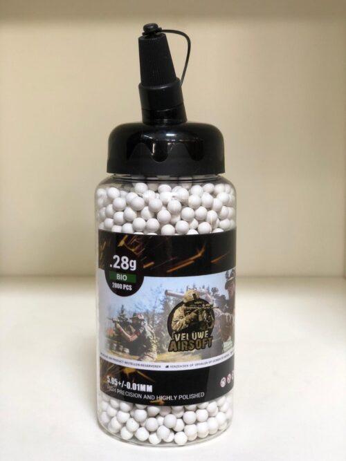 Small Bottle - Veluwe Airsoft - BIO 0.28 BB - 2000pcs -0