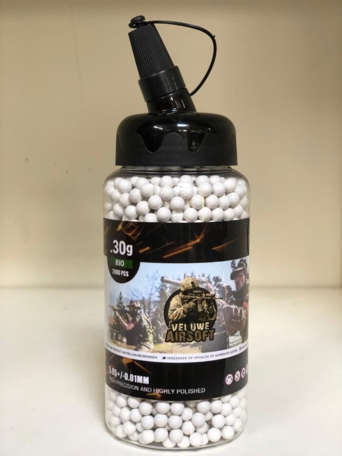 Small Bottle - Veluwe Airsoft - BIO 0.30 BB - 2000pcs -0