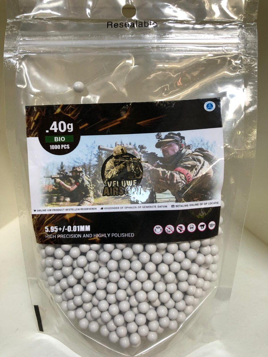 Plastic Bag - Veluwe Airsoft - BIO 0.40 BB - 1000pcs -0